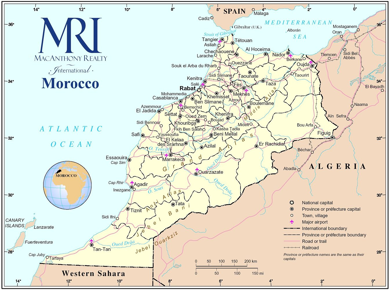 Marruecos: Enlaces/ links (hoteles, restaurantes, transporte ... MARRUECOS MAPA